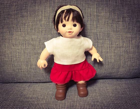 ぽぽちゃんメルちゃんスカート